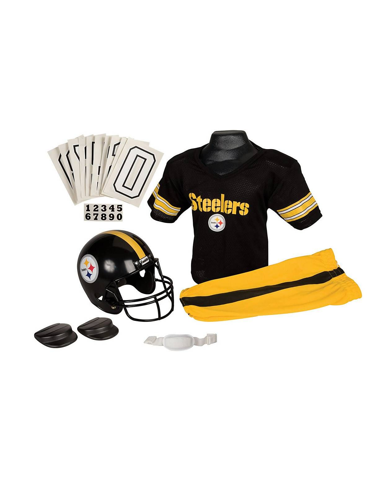 Pittsburgh Steelers Youth NFL Deluxe Helmet and Uniform Set (Medium) a3a8e79f6