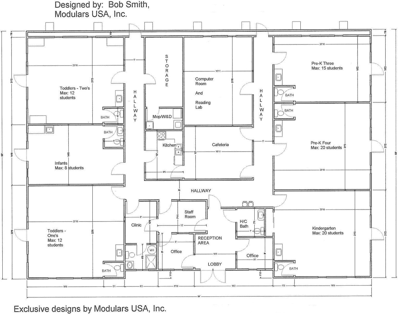 daycare center blueprints Floor Plan for MindExpander Day Care