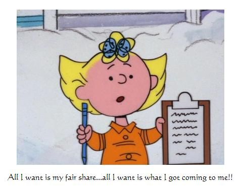 Sally All I Want Is My Fair Share All I Want Is What I Got Coming To Me Sally Brown Charlie Brown Favorite Cartoon Character