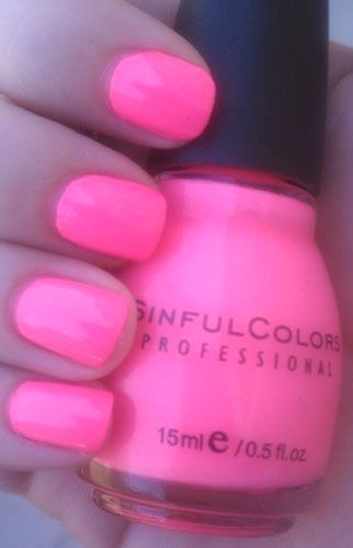 Sinful Colors Summer Neons Swatches and Reviews : Sinful Colors – Fusion neon best nail polish in the world just got it yesterday! #Sinful #Colors #Su…