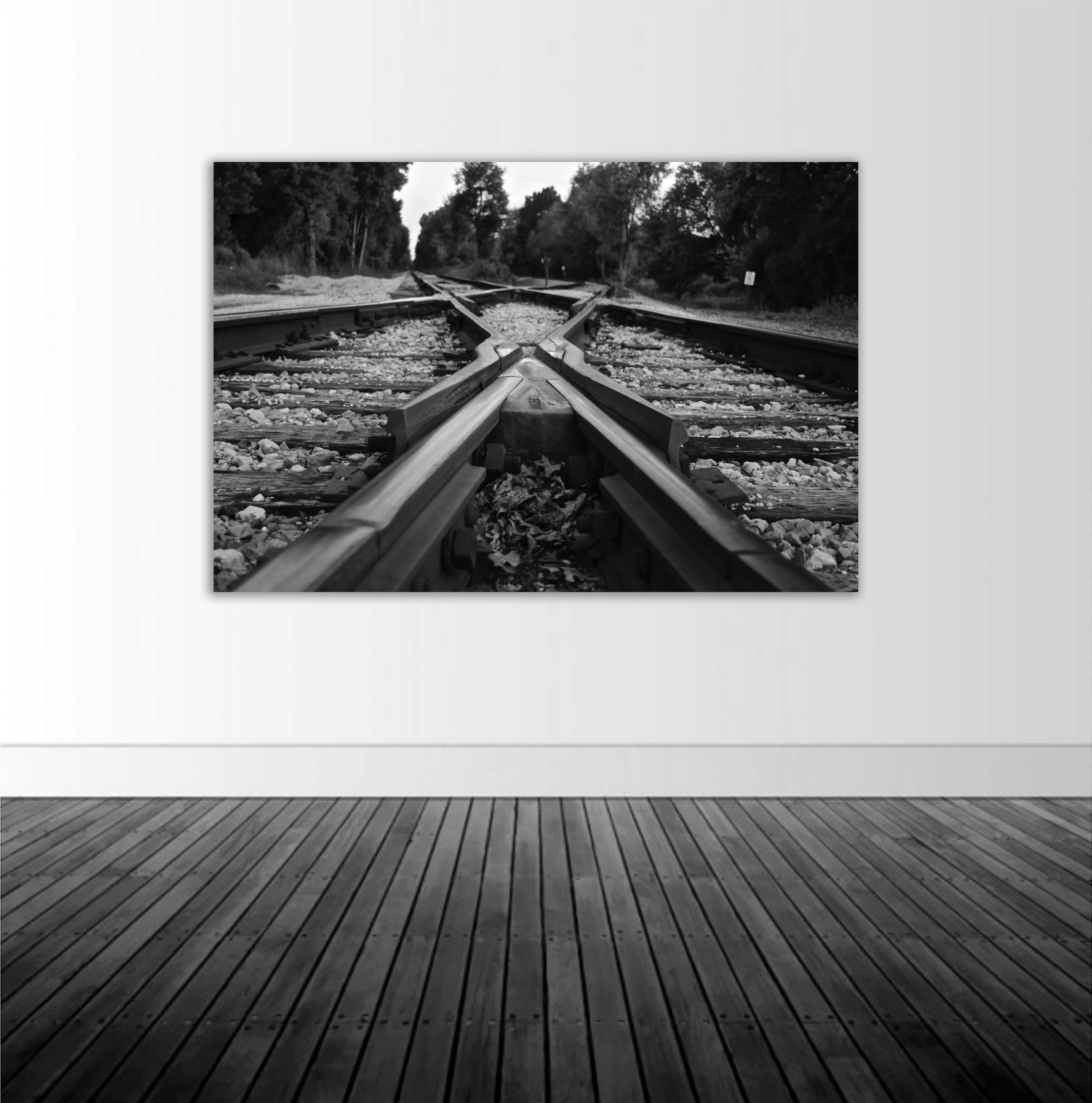 Railroad Tracks Vinyl Wall Decal Railroad Photography ...