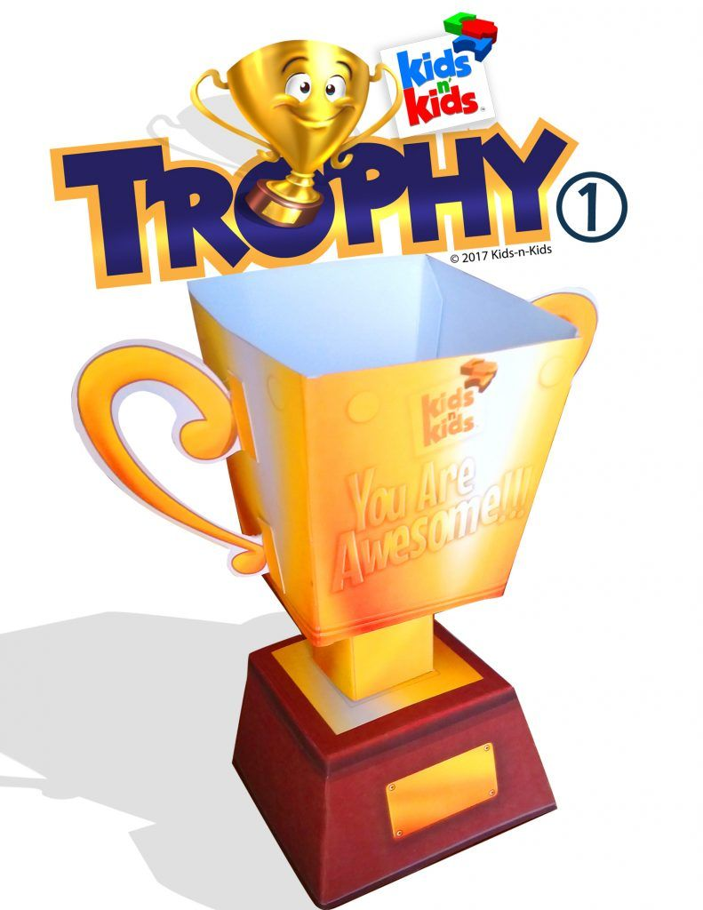 photograph about Printable Trophy identified as 3D Papercraft Trophy Cup THUMBS UP! Trophy cup, Worldwide