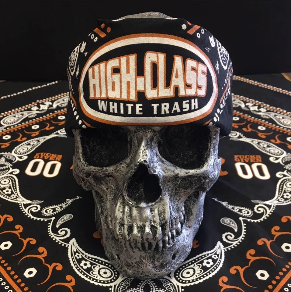 High Class White Trash Bandana. Another high quality apparel product by High Class White Trash. #highclasswhitetrash #bandana #skull #apparel #clothing #accessories #rebels #rednecks #country #bikers #motorcycle #motorcross