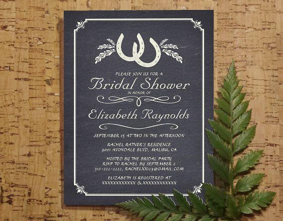 Country Horseshoe Bridal Invitations Bridal Shower Invitations - Wedding invitation templates: wedding shower invite template