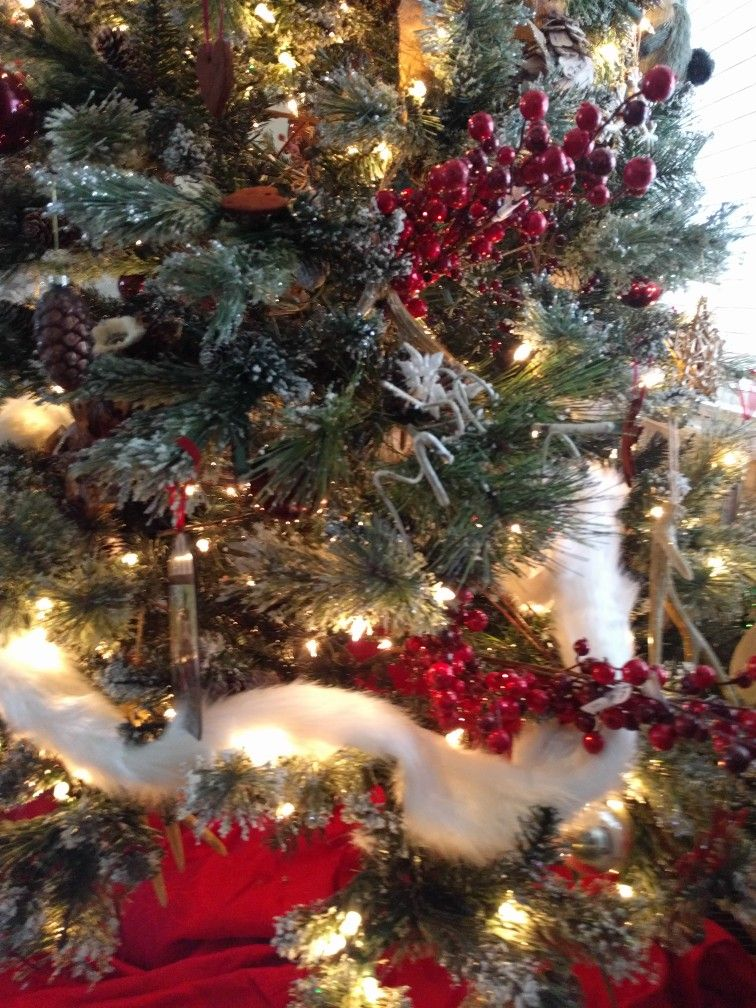New fur garland and giant berry sprays from Pier1 clearance sale - christmas clearance decor