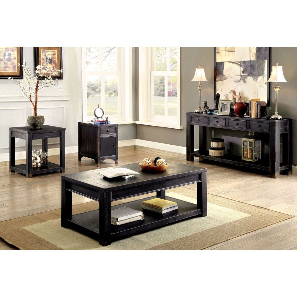 Furniture of america cosbin bold antique black 4 drawer sofa table furniture of america cosbin bold antique black 4 drawer sofa table antique black geotapseo Images