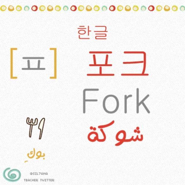 تعلم الكورية و الانجليزية On Instagram اللغة الكورية اللغة الانجليزية الحروف الكورية حرف ㅍ حرف من الحروف Korean Words Korean Language Learn Korea