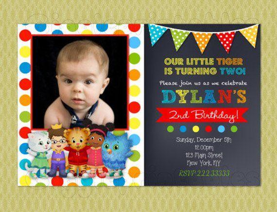 Daniel Tiger Invitation Birthday Invitations