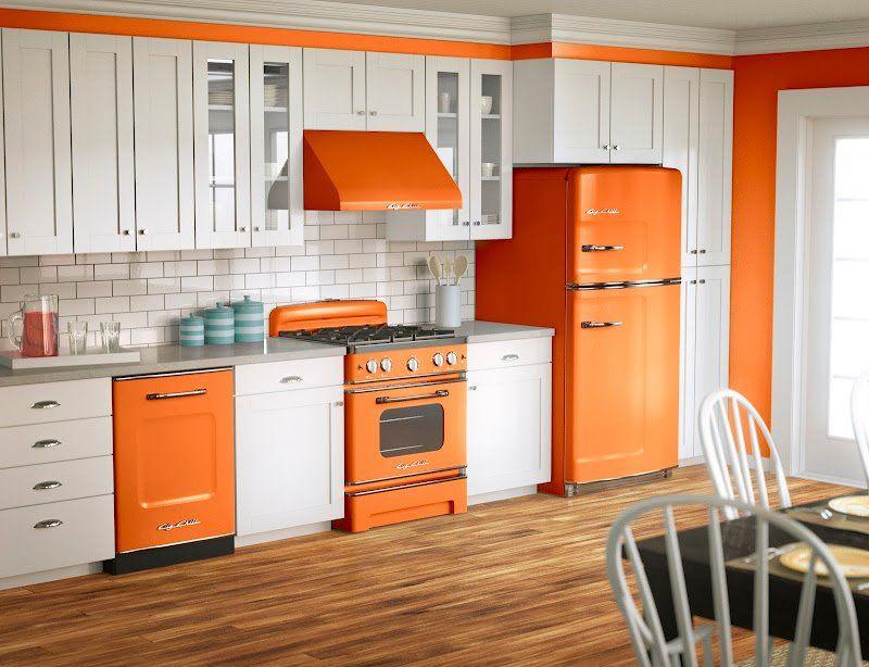 cocina color blanco y naranja | Fabulosos Colores Para Cocinas 2018 ...