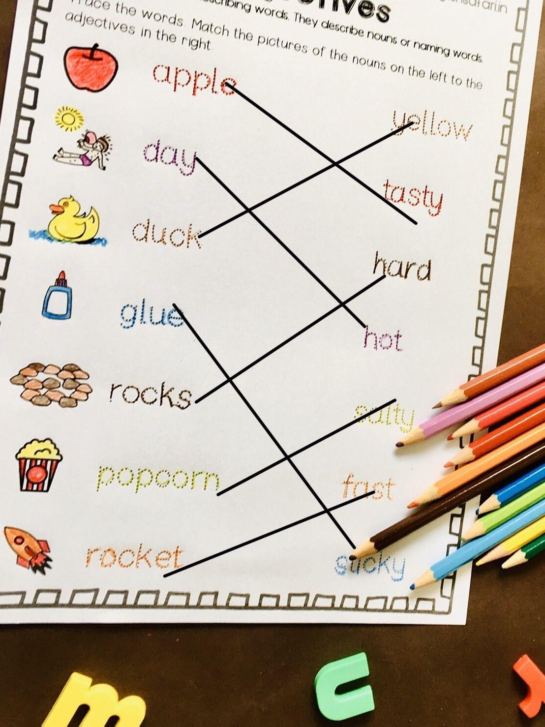 Free Adjectives Worksheets 1st Grade Englishsafari