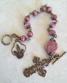 All Beautiful Catholic Beads: Past Rosary Bracelets Gallery #rosaryjewelry