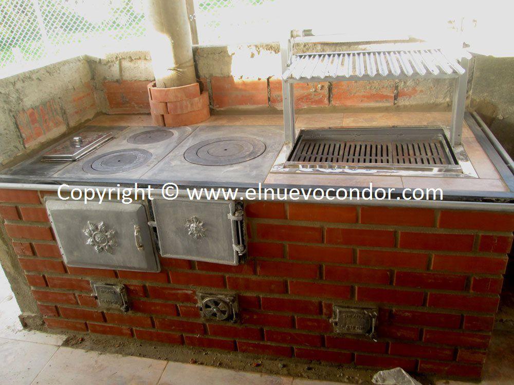 El condor estufas de le a y carb n fundici n de hierro for Cocina a lena de fundicion
