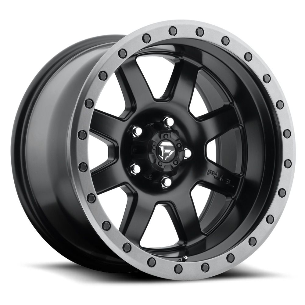 17 Fuel D551 Trophy 17x8 5 Matte Black Gunmetal Ring 5x5 Jeep