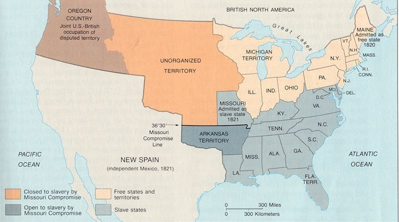 1820 Map Of Us Map of 1820 United States | Mexican american war, Oregon country