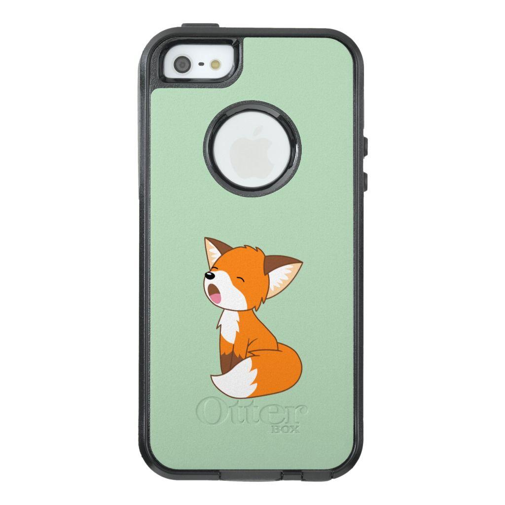 Cute sleepy little fox otterbox iphone case