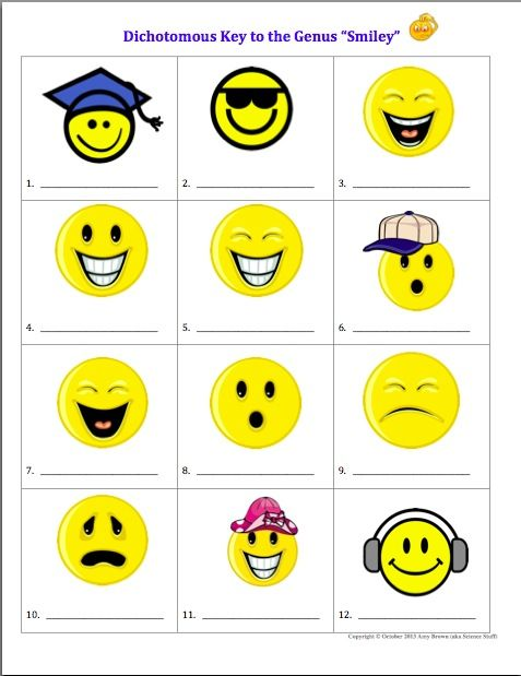 Dichotomous Classification Key To The Genus Smiley Science For
