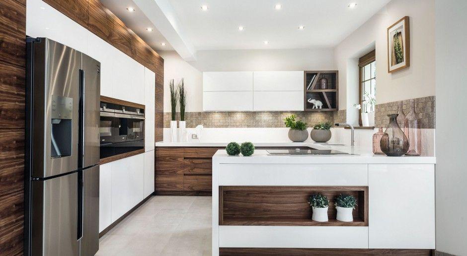 Polwysep Zamiast Wyspy 10 Pieknych Zdjec Modern Kitchen Design European Kitchen Design Kitchen Inspiration Design