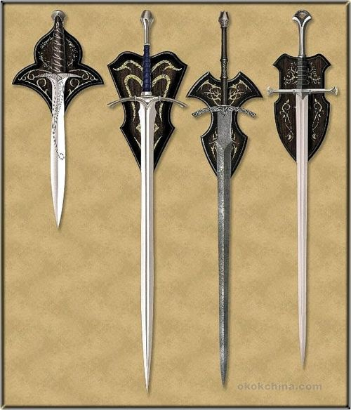 Sting, Glamdring, cheated in the third one- it's the witch king's