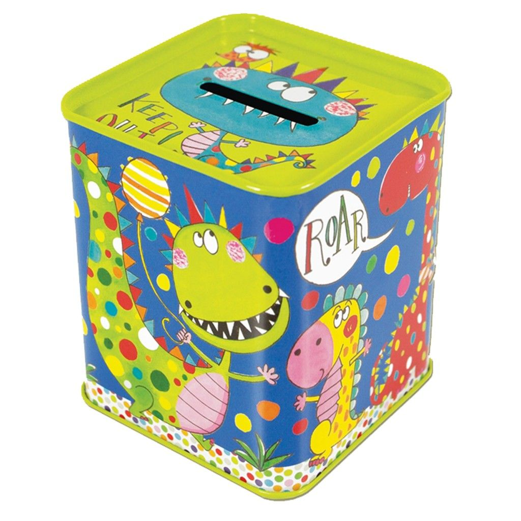 This beautiful dinosaur toy money box will inspire any child to save their pennies!