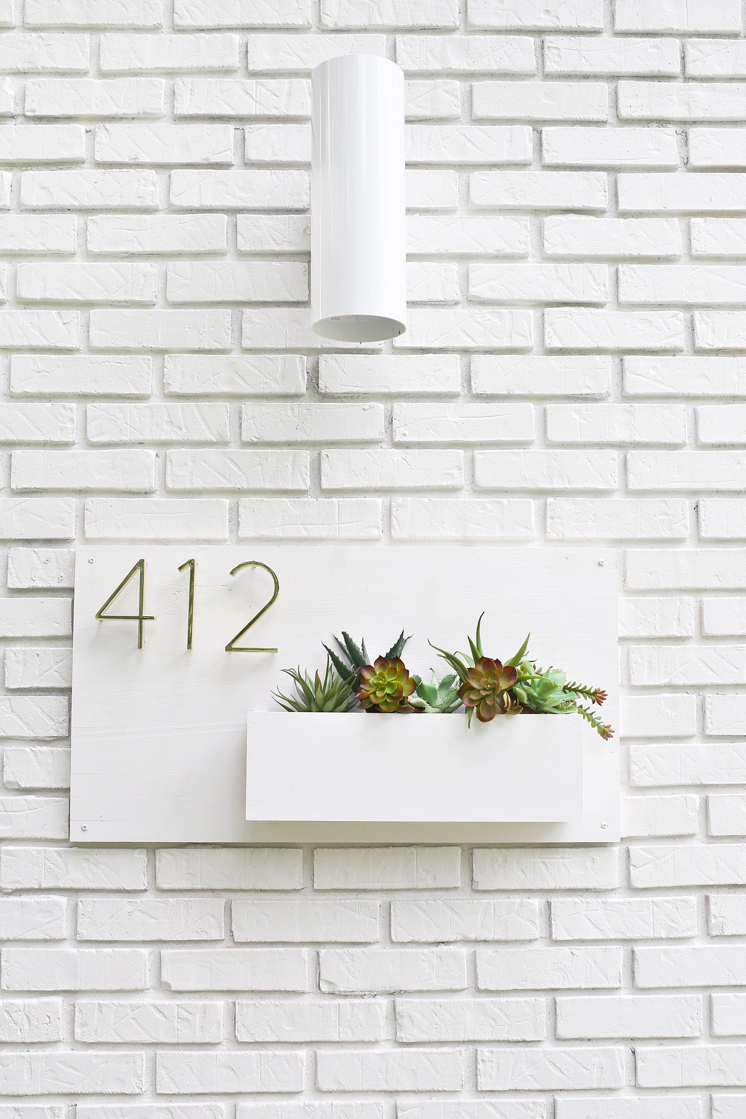 Modern address planter home improvement projects house numbers modern diy house numbers midcentury