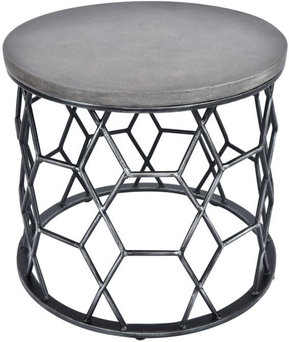 Porter Concrete Side Table Home Coffee Tables Glass Side Tables