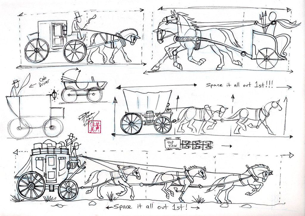 Draw Harnesses and Carriages by ~Diana-Huang on deviantART