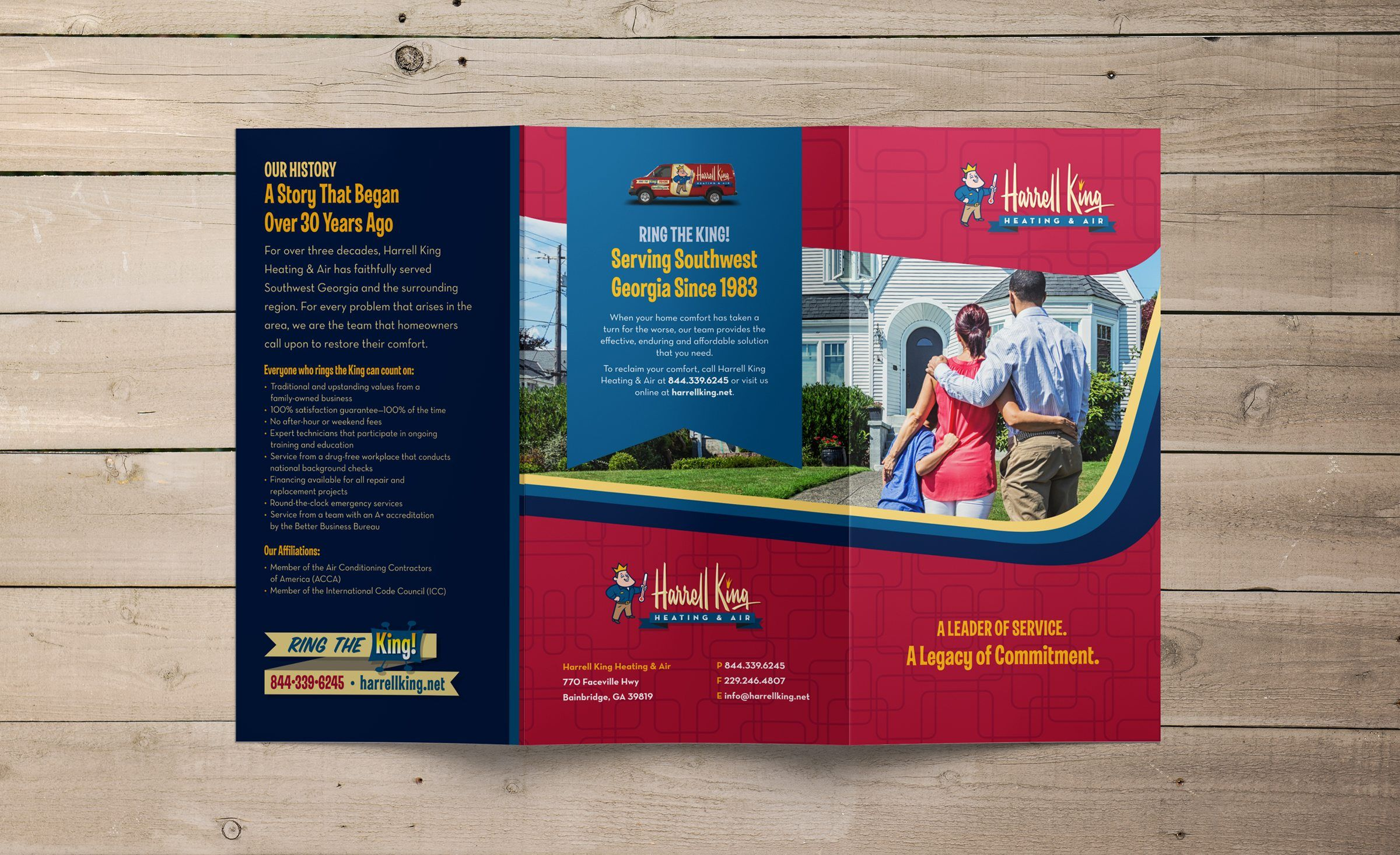Brochure Design For Harrell King A Bainbridge Ga Based Hvac