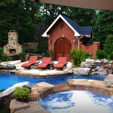 9 Incredibly Cool Pool Houses Pool Houses Cool Pools Pool Landscaping