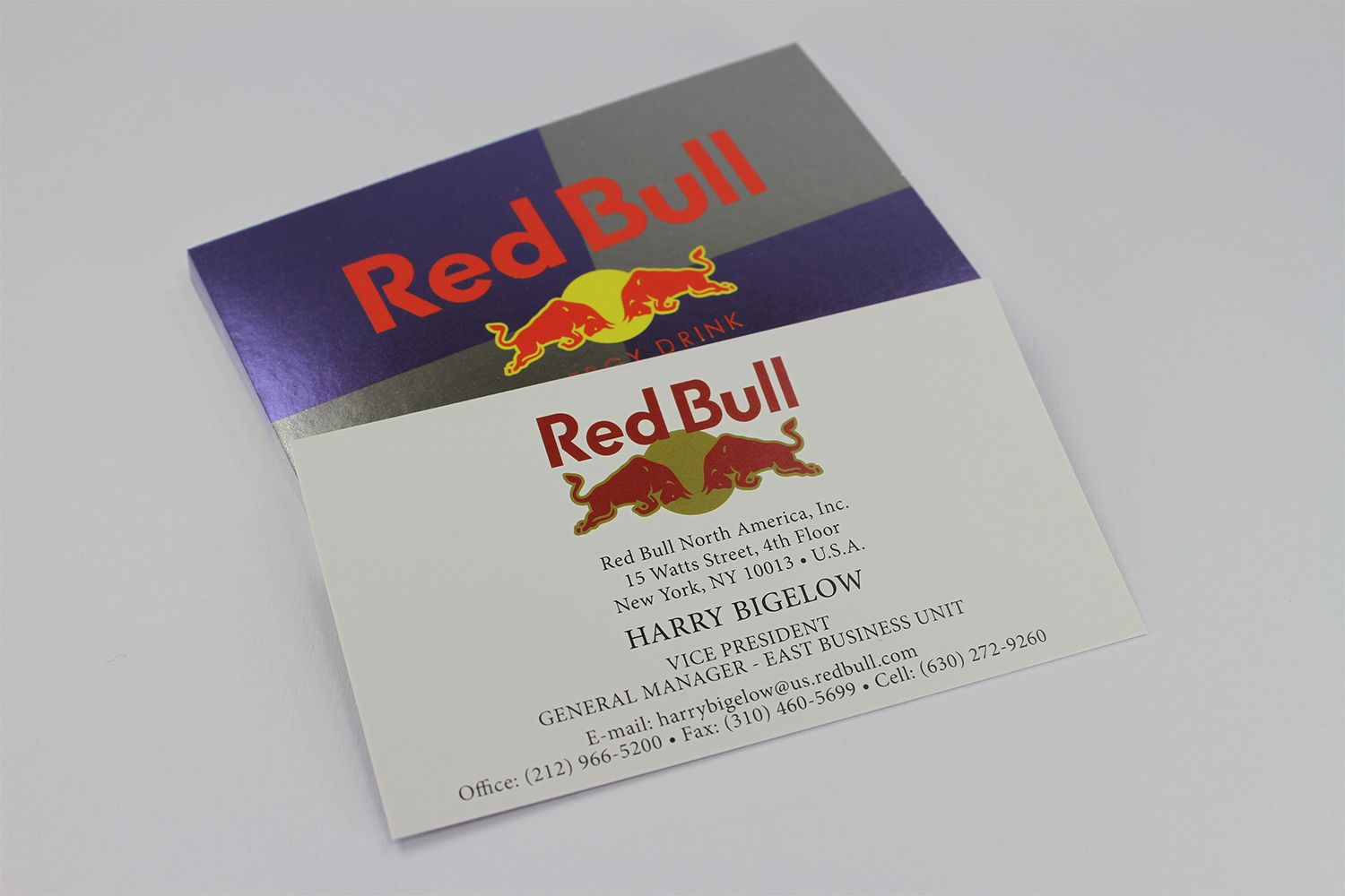 Red Bull Business Cards with Metallic Ink by: nuimageprint.com ...