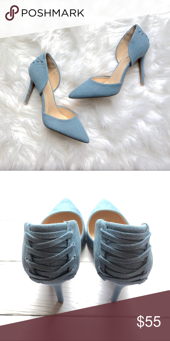 6cbea6ae26b9 Light blue Corset Heels Light blue corset high heel shoes are the perfect  match for any