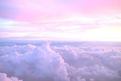 Pastel Sky Clouds Heaven Like View Purple Pink Sunlight Lavender Aesthetic Pastel Sky Clouds