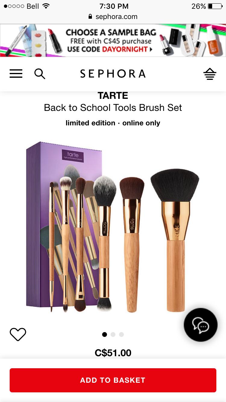 Tarte Back To School Brush Set 2017 Wish List Pinterest