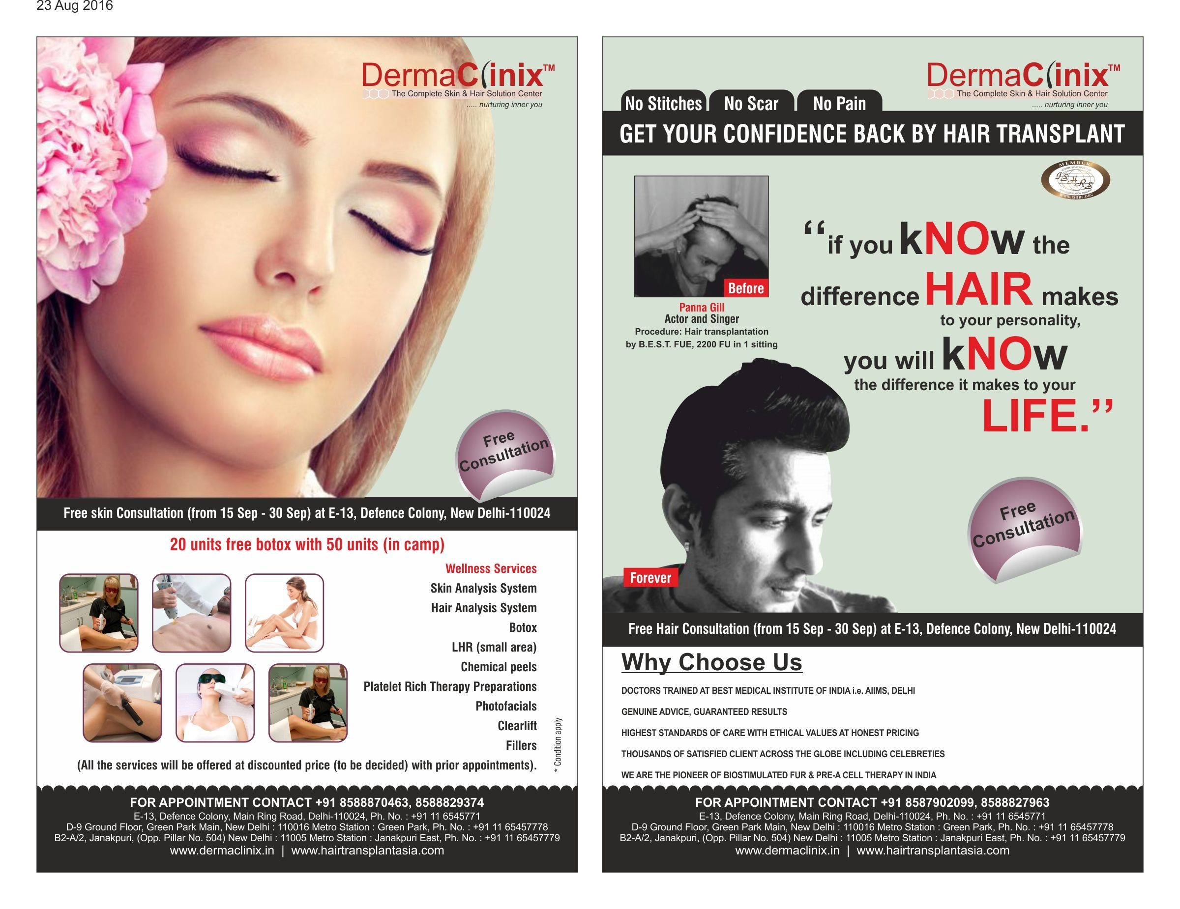 DermaClinix is organizing a free Skin and Hair Analysis