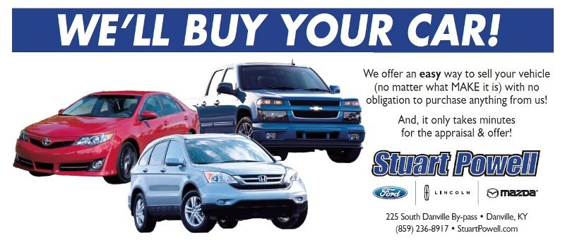 Stuart Powell wants to buy your vehicle! We offer an easy