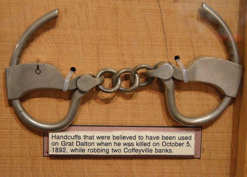 Cuffs used on Grat Dalton