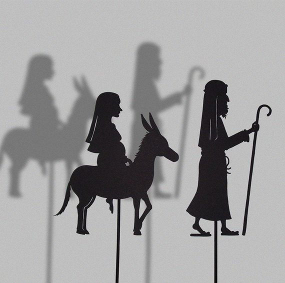 Joseph and Maria/ / Laser cut Shadow Puppets by IsabellasArt,