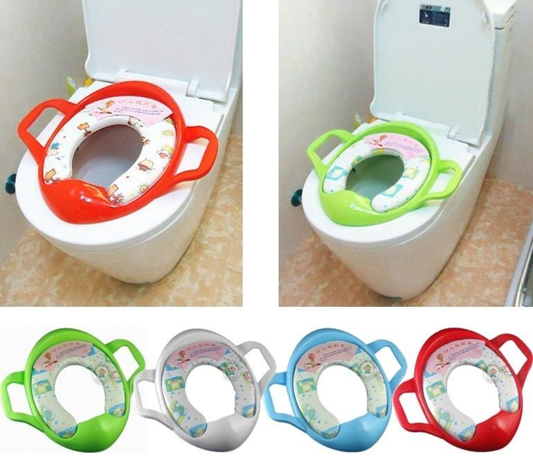 Baby Kid Toddler Potty Training Soft Padded Toilet Seat Pedestal