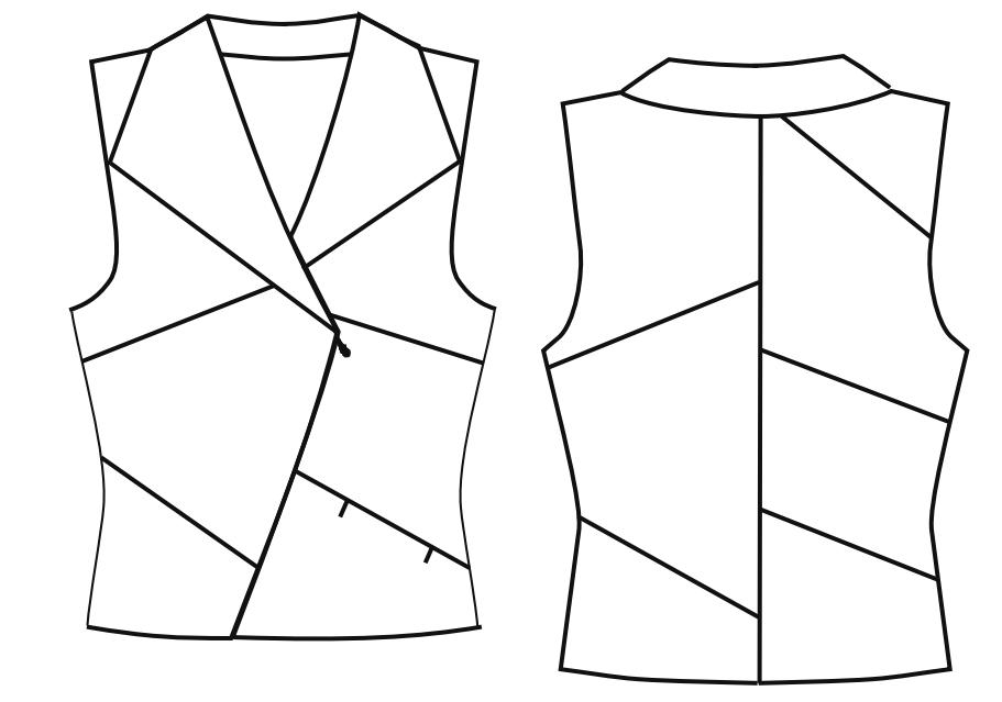 Damenweste | Kleidung nähen | Pinterest