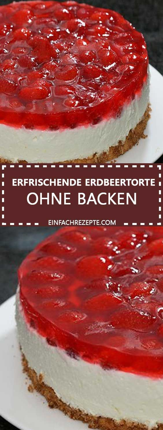 Photo of Quark pudding cake with strawberries and cake icing without baking