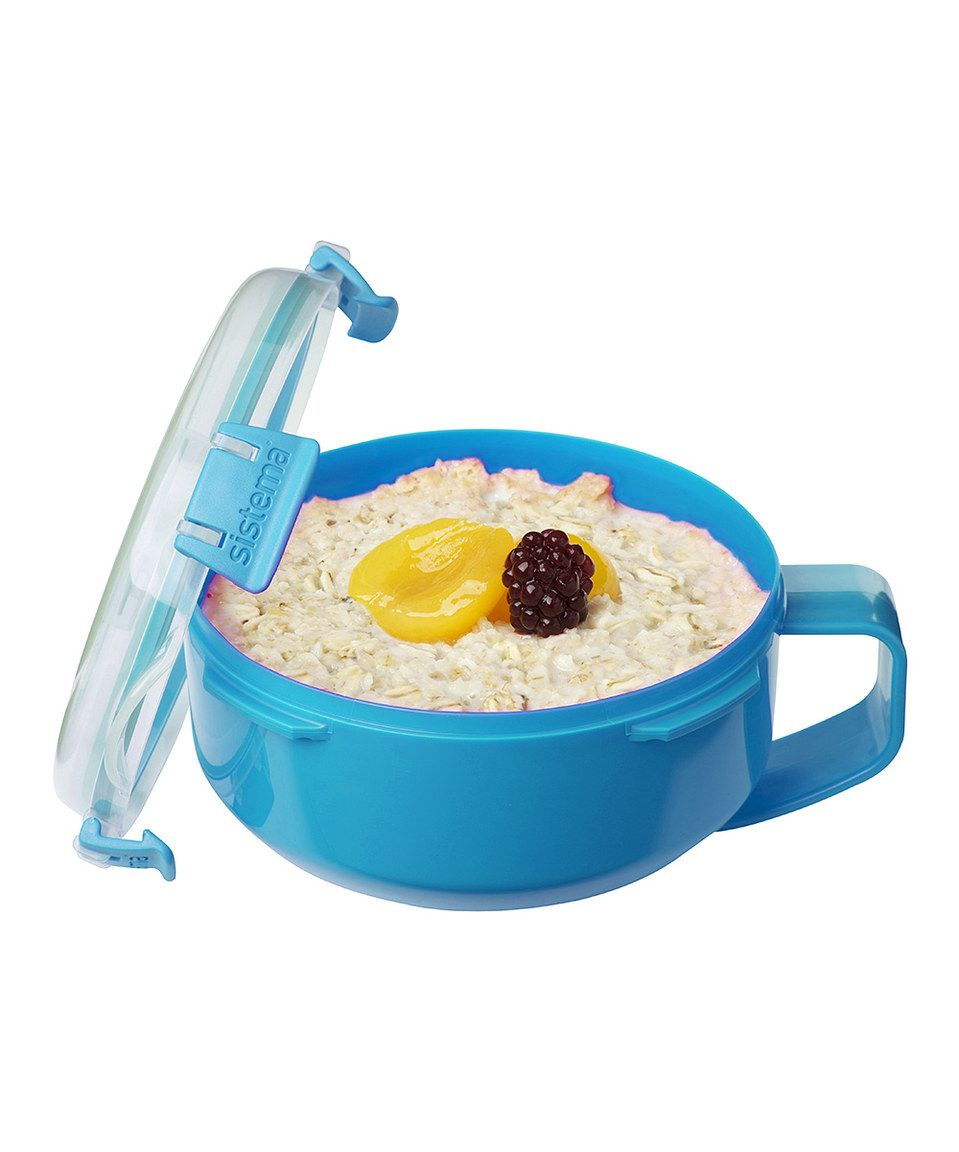 Look at this #zulilyfind! Light Blue Oats-to-Go Container by Sistema ...