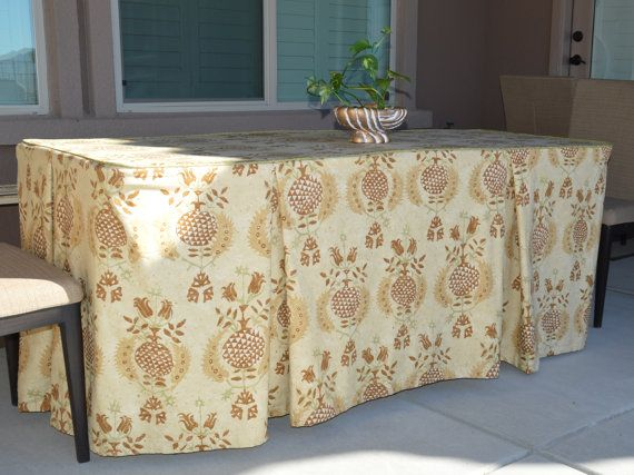 Items Similar To Fitted Banquet Table Tablecloth With Pleats And Piping For A 6 Or 8 Folding Banquet Table Holiday Tablecloth Table Cover On Etsy Table Cloth Fitted Tablecloths Table Covers