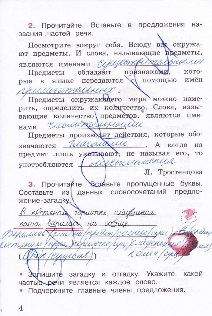 Решение домашних заданий по русскому языку 3 класс рамзаева