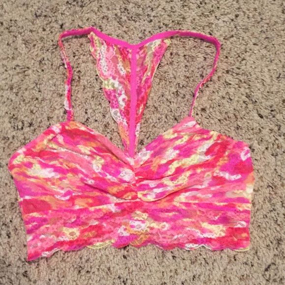 Victoria's Secret Pink Bralette Size Medium Victoria's Secret PINK neon colored bralette. Size medium. Like new condition. Prefect for summer layering. PINK Victoria's Secret Intimates & Sleepwear Bras