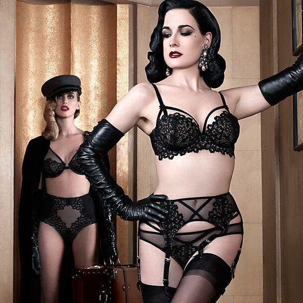 Black nylon corset glamour pics girl