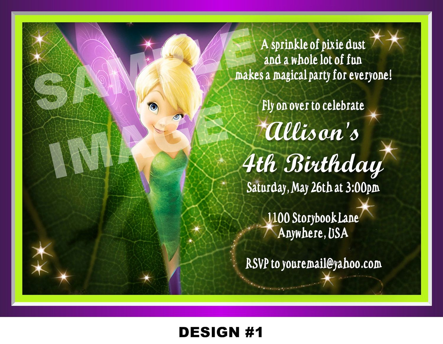 tinkerbell birthday party invitations Josemulinohouseco