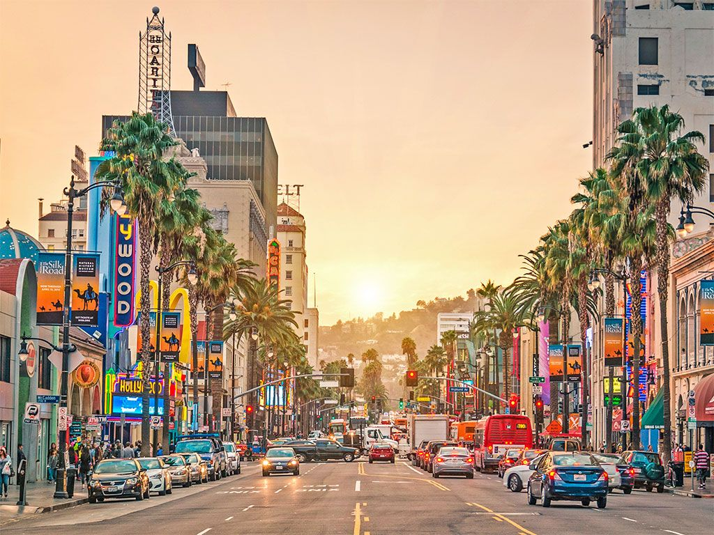 Los Angeles Ca Hollywood Blvd Cheap Places To Travel Places To Travel Usa Travel Destinations