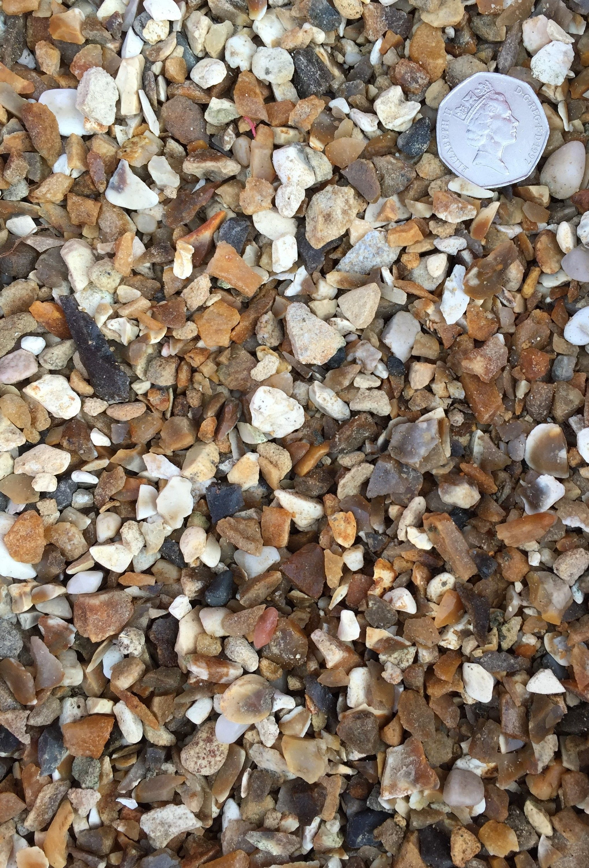 10-6mm Flint Gravel as seen dry with scale provided ...