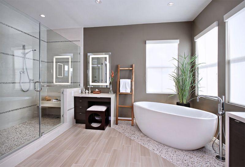 22 Frei Stehende, Ovale Badewanne Im Badezimmer    Http://www.einstildekoration