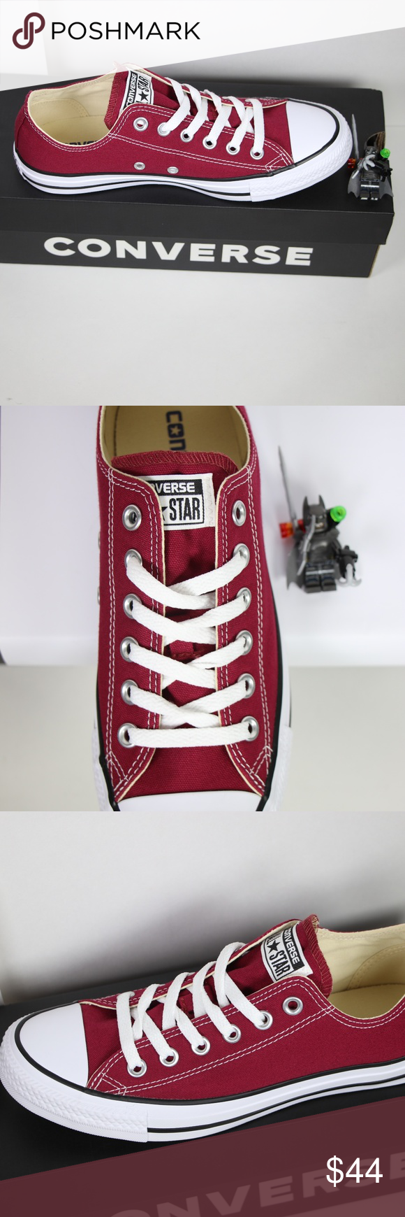 8064ec8e7ee8 Maroon Classic Converse All Star Low Top BRAND NEW in ORIGINAL BOX  100%  AUTHENTIC. Price is firm. More sizes available (listed below) in LOW TOPS    HIGH ...