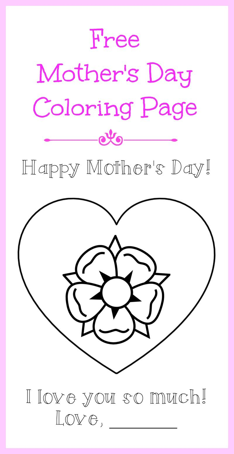A #printable Mother\'s Day coloring page for the kids - so you can ...